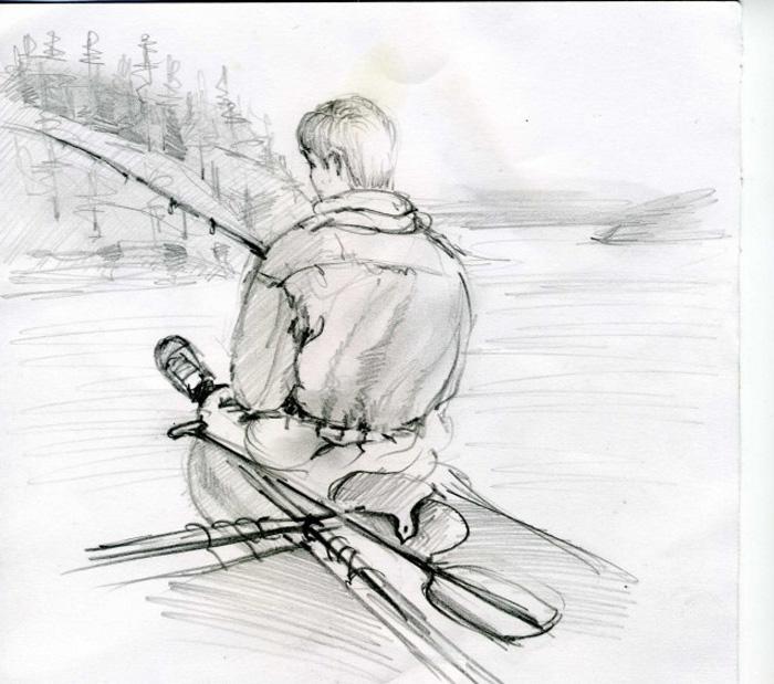 Рисунки карандашом рыбакова